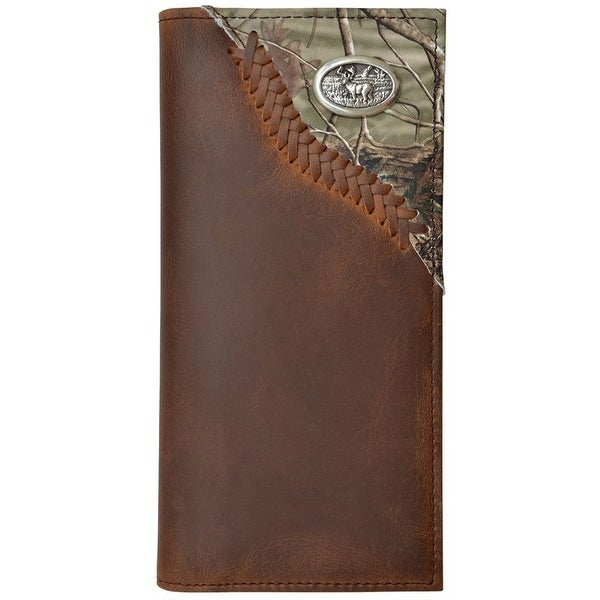 Badger Western Wallet Mens Bifold Outdoor Realtree Camo Brown - One size