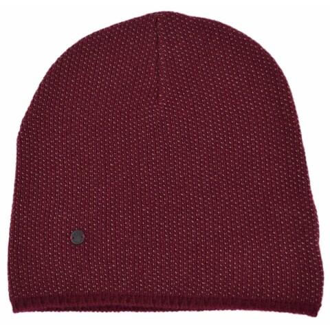 Gucci 352350 Men's Burgundy Beige Wool Cashmere Beanie Ski Winter Hat XL