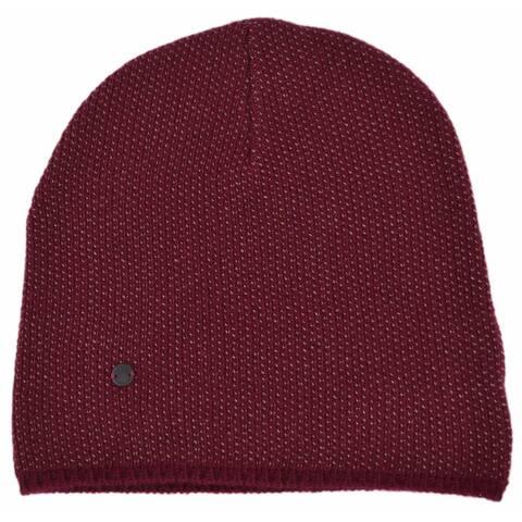 Gucci 352350 Men's Burgundy Beige Wool Cashmere Beanie Ski Winter Hat XL - Extra Large