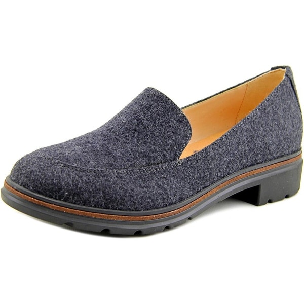 Dr. Scholl's Hollie Women Round Toe Canvas Gray Loafer