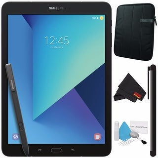 "Samsung 32GB Galaxy Tab S3 9.7"" Wi-Fi Tablet SM-T820NZKAXAR + Tablet Neoprene Sleeve 10.1"" Case (Black) Bundle"