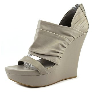 BCBGeneration Gryffen   Open Toe Leather  Wedge Heel