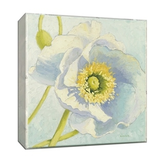 """PTM Images 9-153301  PTM Canvas Collection 12"""" x 12"""" - """"White Poppies I"""" Giclee Flowers Art Print on Canvas"""
