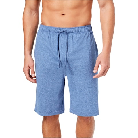 32 Degrees Mens Knit Pajama Shorts, blue, Small