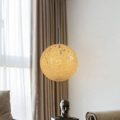 Bushnell Ball Pendant 1-Light White Orb Dimmable