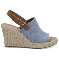 TOMS Women's Monica Suede Ankle-High Wedged Sandal