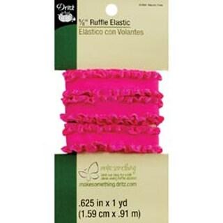 "Neon Pink - Ruffle Elastic 5/8""X1yd"
