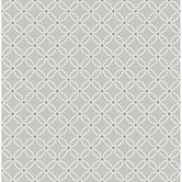 Brewster 2625-21843 Kinetic Grey Geometric Floral Wallpaper - grey geometric floral