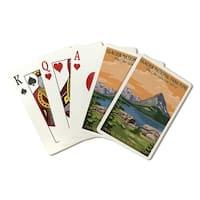 Glacier Nat'l Park, Many Glacier Hotel, LP Art (Poker Playing Cards Deck)
