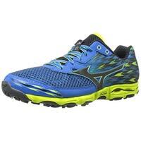 Mizuno Men's Wave Hayate 2 Running Shoe, Electric Blue Lemonade/Black, 11.5 D US