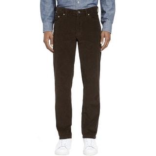 Kirkland Signature Standard Fit Corduroy Pants Mocha Brown 36W x 32L - 36