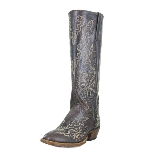 Macie Bean Western Boots Womens Cowboy Tall Floral Brown Raven