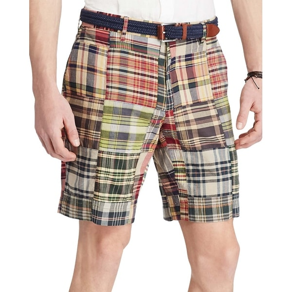 Polo Ralph Lauren Classic Fit Plaid Madras Shorts 30 Waist Red 9\