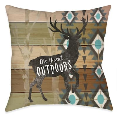 Rustic Outdoors Outdoor Pillow