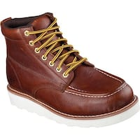 Skechers Men's Work Relaxed Fit Pettus Boot Red/Brown