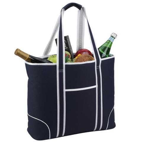 Picnic at Ascot Extra Large Insulated Cooler Bag - 30 Can Tote - Navy Blue