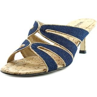 Vaneli Matilda Women Open Toe Canvas Blue Sandals