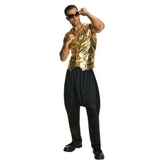 Mens Halloween MC Hammer Pants Color Black - standard - one size
