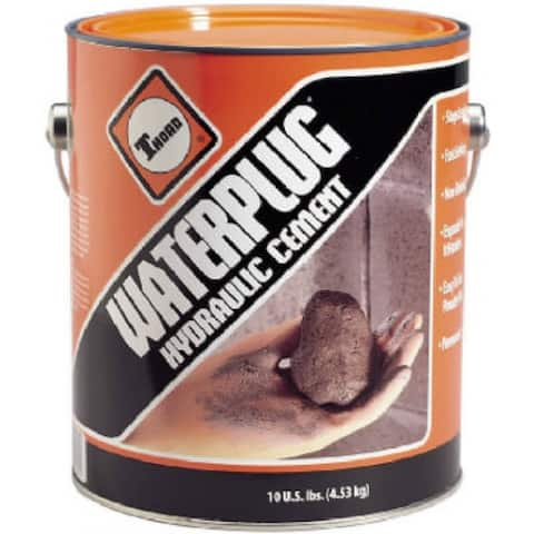Thoro T5002 Waterplug Cement-Based Quick Set Hydraulic Cement, 10 Lb