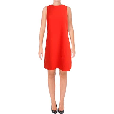 Lauren Ralph Lauren Womens Wear to Work Dress Sleeveless Crepe