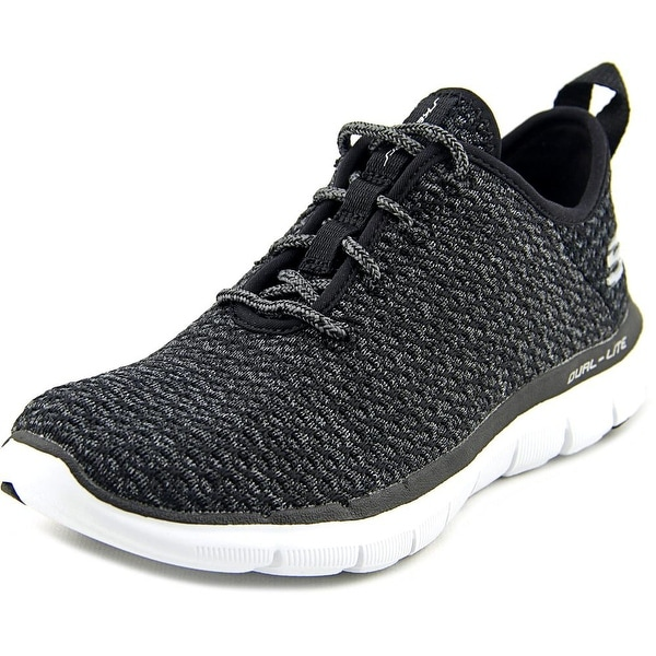 Skechers Flex Appeal 2.0-Bold Move Women Round Toe Canvas Black Sneakers