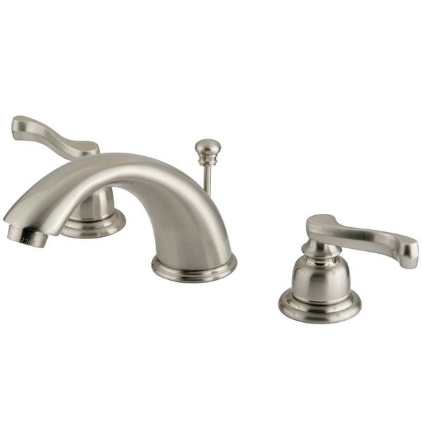 Kingston Brass KB96.FL Magellan Widespread Bathroom Faucet with Pop-Up Drain Assembly and Metal Lever Handles