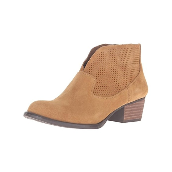 Jessica Simpson Womens Dacia Booties Suede Perforated Brown 7.5 Medium (B,M) - 7.5 medium (b,m)