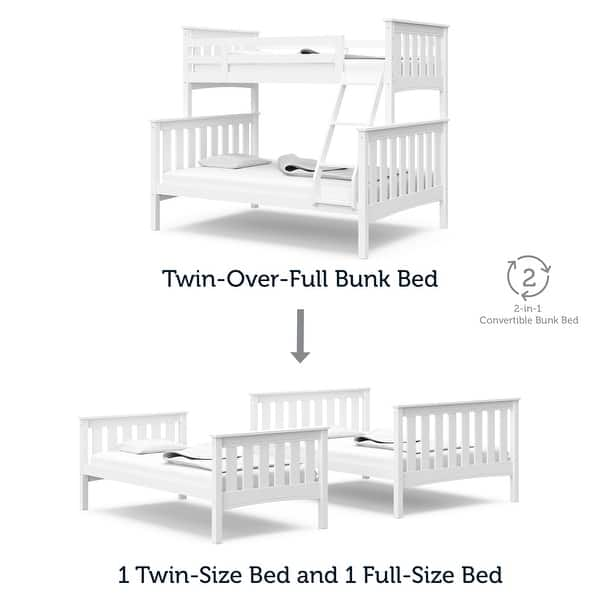 Thomasville Kids Winslow Twin Over Full Bunk Bed White