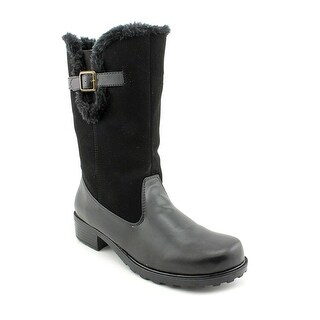 Trotters Blizzard Women Round Toe Synthetic Black Mid Calf Boot