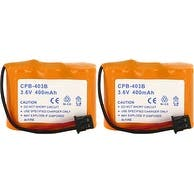 Replacement Panasonic TYPE 2 NiCD Cordless Phone Battery - 400mAh / 3.6v (2 Pack)