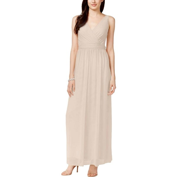 Adrianna Papell Womens Evening Dress Chiffon Drape Back