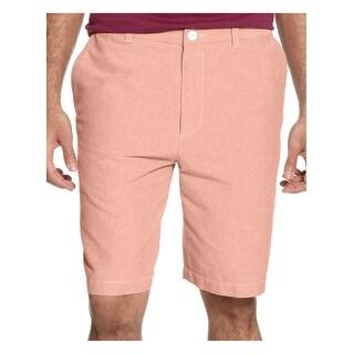 Club Room Mens Harvest Orange Casual Shorts Flat Front Cotton