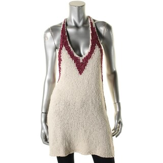 Free People Womens Tank Top Sweater Knit Colorblock