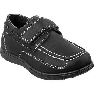 Josmo Boys' O-80385B Slip-on Boat Shoe Black