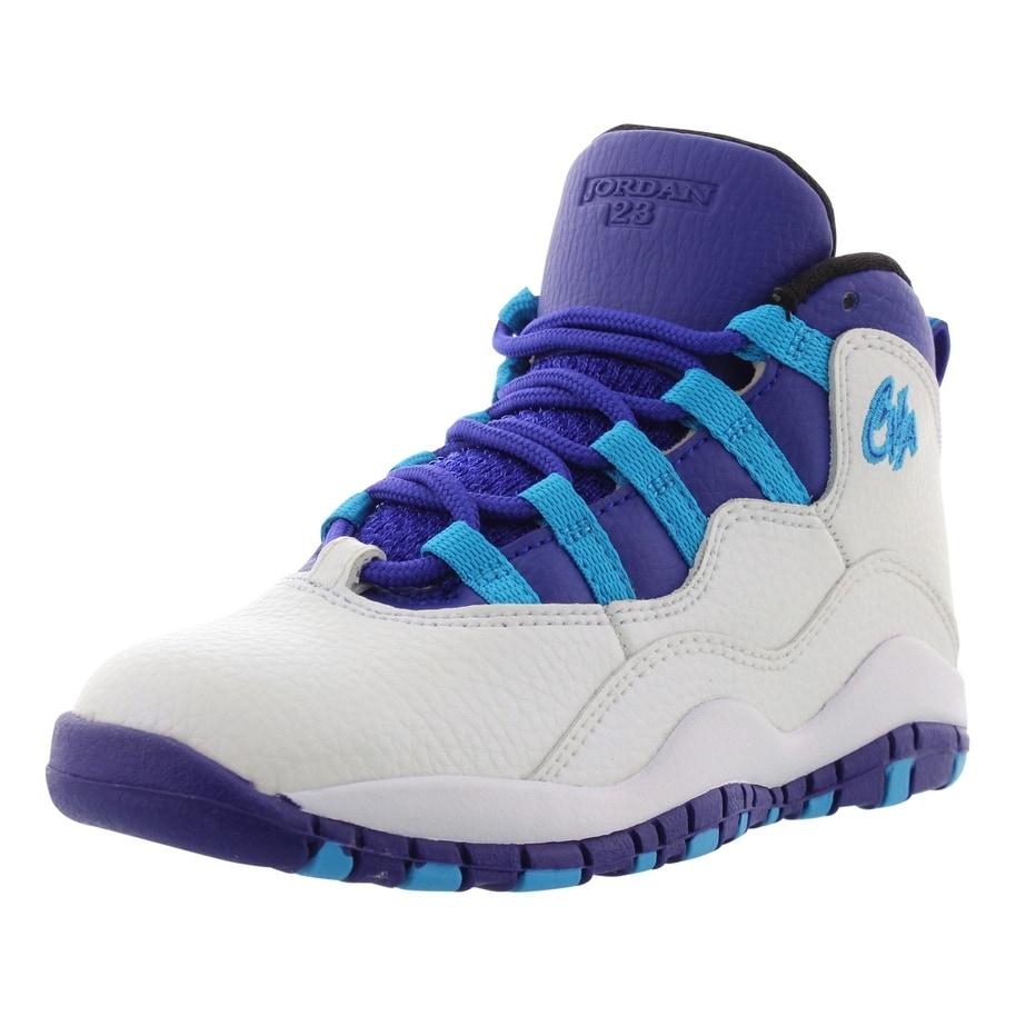 Jordan Retro 10 Basketball Boys Preschool Shoes Size - 11 m