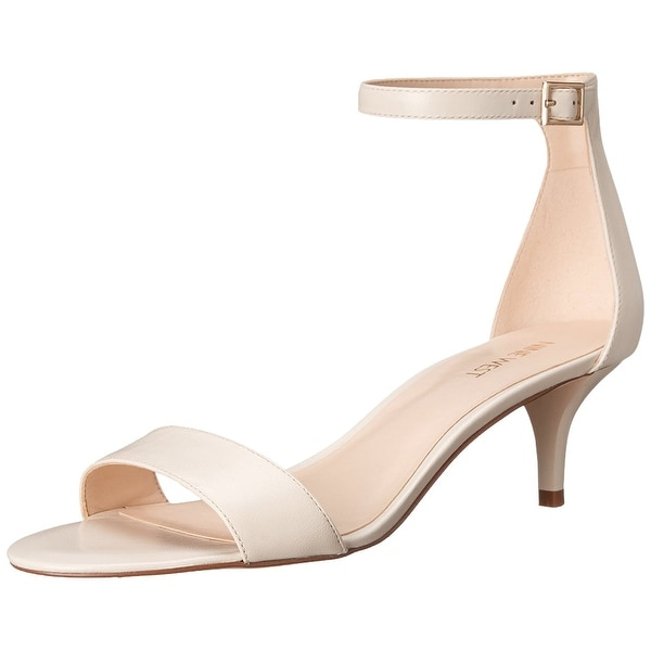 Nine West Womens Leisa Leather Open Toe Special Occasion Ankle Strap Sandals