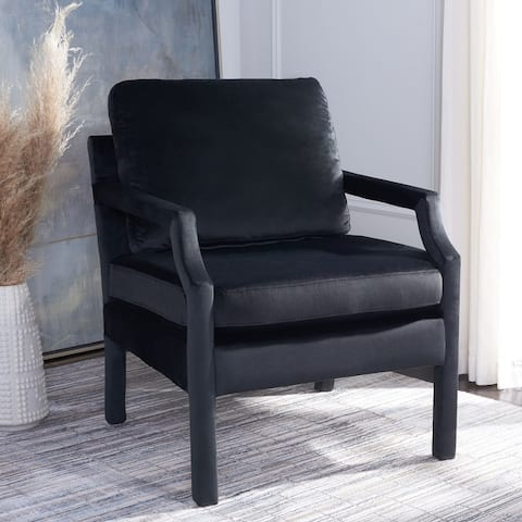 "Safavieh Genoa Upholstered Velvet Arm Chair - 25.8"" W x 29.1"" L x 35"" H"