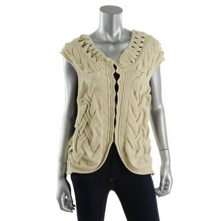 Catherine Malandrino Womens Knit Hood/Eye Cardigan Sweater - S