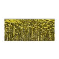 Pack of 6 Gold 2-Ply Hanging Metallic Fringe Drape Decorations 10'