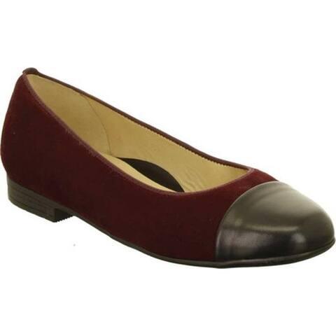 ara Women's Sally 41305 Cap Toe Shoe Brunello Oily Kid/Black Nappa