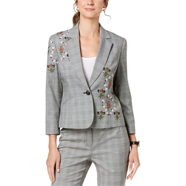 Nine West Womens Embroidered One Button Blazer Jacket. Opens flyout.
