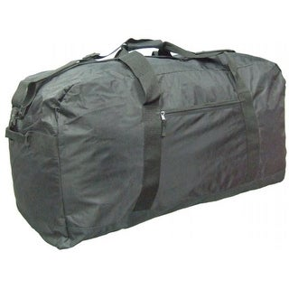 0f28c2a161 Shop McBrine Luggage P2487-BK 33 Inch Nylon Extra Large Duffle Bag in Black  - Free Shipping Today - Overstock - 25901446