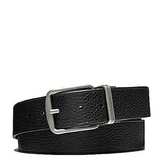 Coach Wide Harness Cut To Size Reversible Pebble Leather Belt, F64840