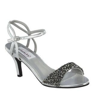 Embellished Low-Heel Ankle Strap Sandal