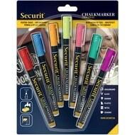 Assorted Colors; Small Nib - Liquid Chalk Markers 7/Pkg