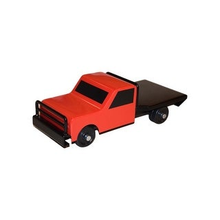 Little Buster Toy Flatbed Farm Truck Heavy Duty Hitch Stock Red