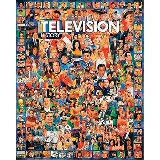 "Jigsaw Puzzle Ultimate Trivia 1000 Pieces 24""X30""-Television History"
