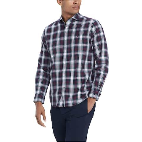 Tommy Hilfiger Mens Classic Plaid Button Up Shirt