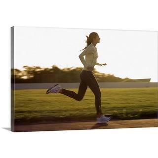 """""""Woman running"""" Canvas Wall Art"""