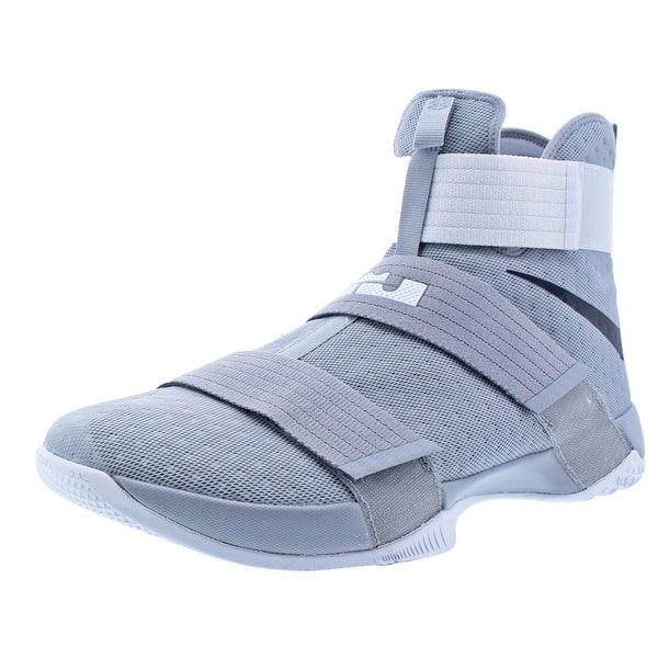 online store 1f640 d118d Shop Nike LeBron Soldier 10 Men's Mesh High-Top Basketball ...